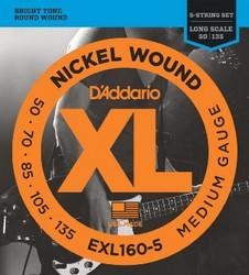 Daddario EXL160-5 Nickel Wound 50-135, 5-kielisen Basson kielisarja