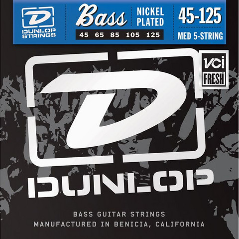 Dunlop Nickelplated steel   45-125  5-Kielisen Basson kielisarja