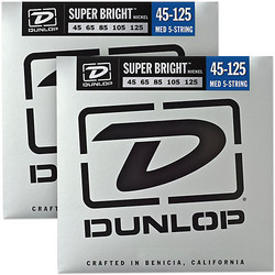 Dunlop Nickel Wound 45-125 Super Bright  5-kielisen Basson kielisarja