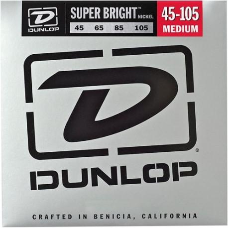 Dunlop Stainless steel 45-105 Super Bright  till 4-strängad elbas