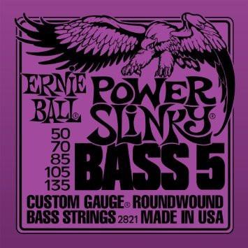 Ernie Ball EB2821 Power Slinky  050-135 5-kielisen Basson kielet