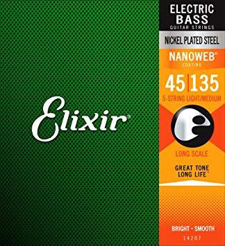 Elixir  NWB5  Nanoweb 045-135 till 5-strängad elbas