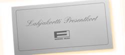 Lahjakortti- Presentkort  20€
