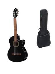 GEWA Elektro-akustisk klassisk gitarr Student Black - 4/4 storlek