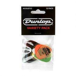 Dunlop plectrum Variety Pack för akustisk gitarr
