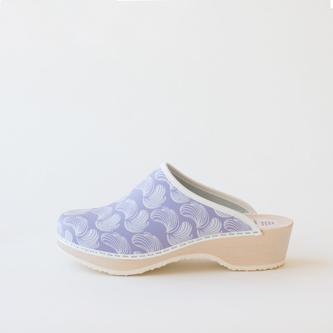 Traditional clog Feather, lavender