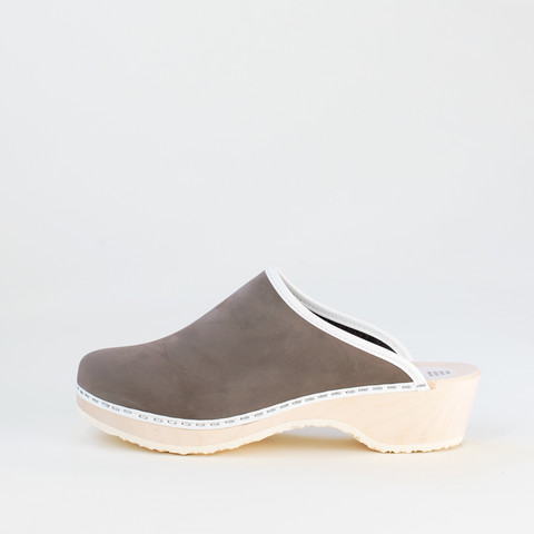Clogs, soft granite (nubuck)