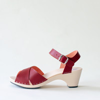 Sandal Laura, burgundy (vegetable-tanned)