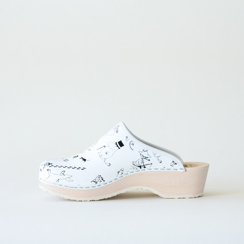 Clogs Moomin, white