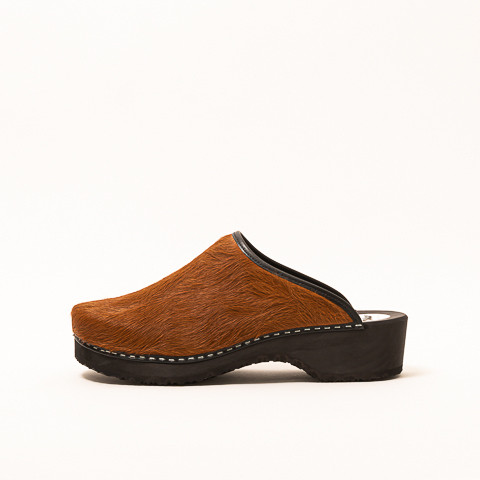 Clogs cow leather, brown