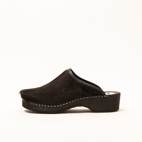 Clogs cow leather, black
