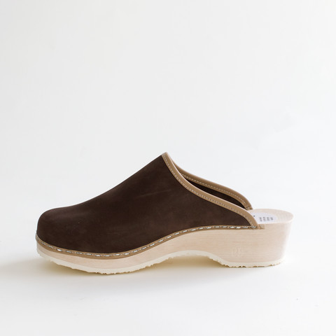 Clogs, brownie (nubuck)