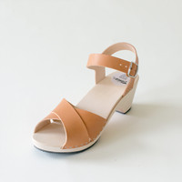 Sandal Laura, caramel (vegetable-tanned)