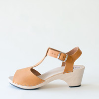 Sandal Sofia, honey (vegetable-tanned)