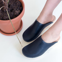 Clogs, vintage salty liquorice (vegetable-tanned)