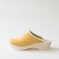 Traditional clog, citron (nubuck)