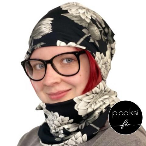 Custom made product. Tubular scarf, Daalia. Several colors.