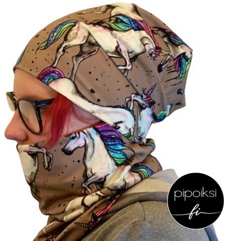 Custom made product. Tubular scarf, Myytti. Several colors.