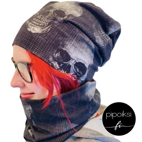 Custom made product. Tubular scarf, Boneheads.