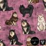 Sweatshirt knit: Finnish Lapphunds, light pink