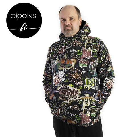 Custom made product. Hoodie, unisex. Several different patterns. S-XXXL