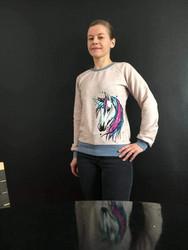 Report fabric. Sweatshirt knit, organic **I or II quality**