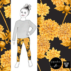 Leggings for kids, Daalia jersey. Different colors.