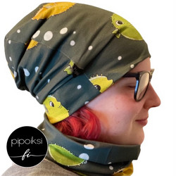 Ready made product. Pallokala wrinkled beanie. Several colors.