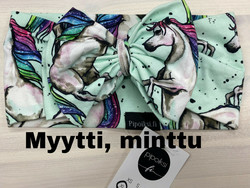 Custom made product. Myytti bow head wrap. Several colors. XS-XXL