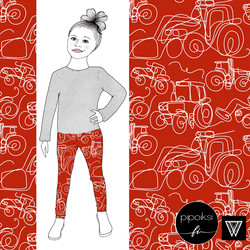 Leggings for kids, Traktori 56-158cm