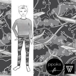 Leggings for kids, Lennolla jersey. 56-158cm