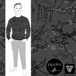 Organic jersey: Kruunupää, grey