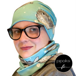 Custom made product. Tubular scarf, Pallokala. Several colors.
