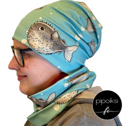 Ready made product. Tubular scarf, Pallokala. Several colors.