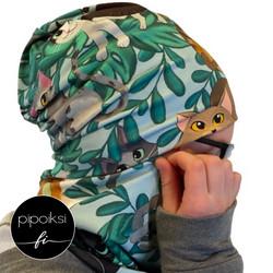 Ready made product. Tubular scarf, Kattikaverit. Several colors.