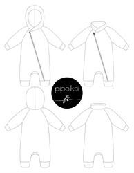 Jumpsuit pattern 44-140cm, pdf file pattern
