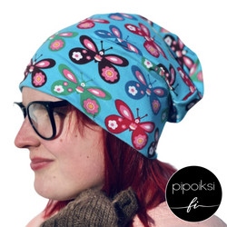 Butterfly wrinkled beanie, available. **CLEARANCE SALE**