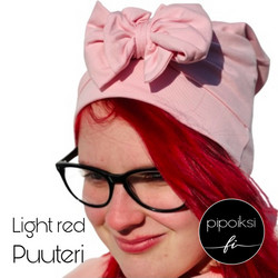 Custom made. Cap beanie with rosette. Several colors. XS-XXXL