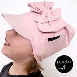 Custom made. Cap beanie with bow. Several colors. XS-XXXL
