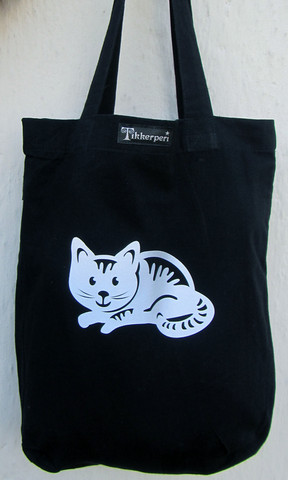 Heijastava kassi Kissa (EarthPositive Fashion Tote Bag)