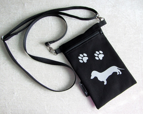 Heijastava kännykkäpussi koira (valittavissa useita eri rotuja)