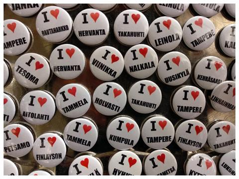I love Tampere-magneetti