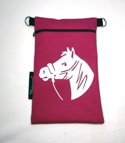 Heijastava kännykkäpussi Hevonen (fuksia)