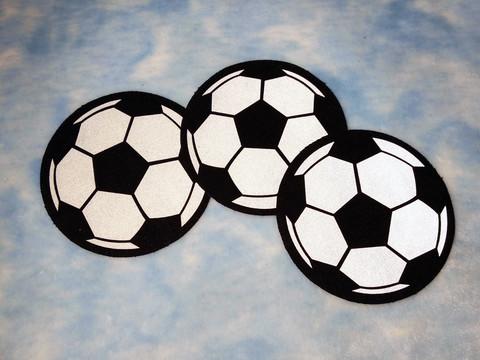 Heijastava ompelumerkki jalkapallo ( 3 kpl:een setti)