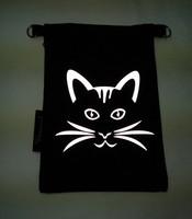 Heijastava kännykkäpussi Kissanviikset