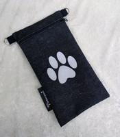 Heijastava kännykkäpussi Tassu (farkku)