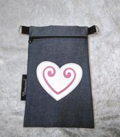 Heijastava kännykkäpussi Sydän (vaaleanpunainen)