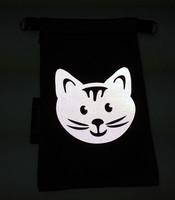 Heijastava kännykkäpussi Kissa (fuksia)