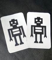 Heijastava ompelumerkki Robotti 2 kpl:een setti