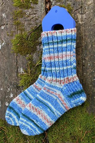 Sinikirjavat sukat 36-37, värikoodi 3656